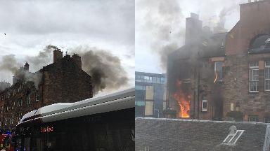 Blaze: Firefighters were called to the scene in Fountainbridge.