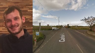 Appeal: Connor O'Neill died after a crash on the A73.