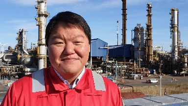 Fife: Jacob McAlister, manager at the ethylene plant.