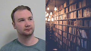Jailed: Darren Barr stole thousands of books.