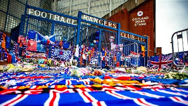 Ibrox: Football fans have been paying tribute to Fernando Ricksen.