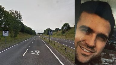 Missing: Stewart McLaren's car was spotted on the A9.