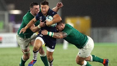 Ali Price suffered foot and ankle problems against Ireland.