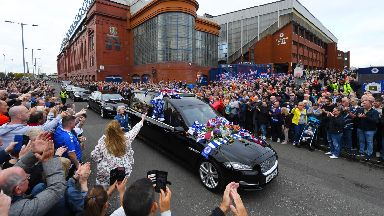 Rangers: The fans were out in full support.