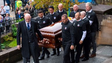 Funeral: Nacho Novo, Michael Mols, Thomas Buffel and Vincent de Vries helped to carry the coffin.