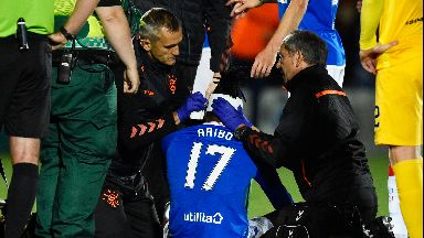 Aribo needed 20 stitches on the wound.