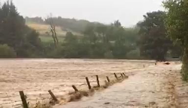 Flooding: King Edward near Banff.