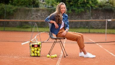 Tennis ace: Rosie Sterk, 16, has joined forces with Thistles shopping centre.