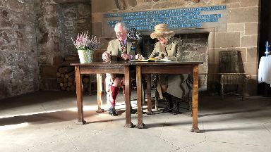 Royal visit: The Duke and Duchess of Rothesay visited Dunnottar Castle.