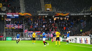 Supporters: Rangers fans travelled to Bern for the game.