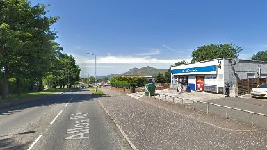 Alloa Road: The man was struck around 8pm on Thursday.