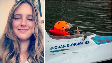 Racing: Oban has become a star in powerboat racing.