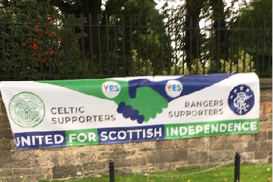 Supporters: Old Firm united.