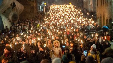 Light up: The Torchlight Procession will culminate at Holyrood Park.