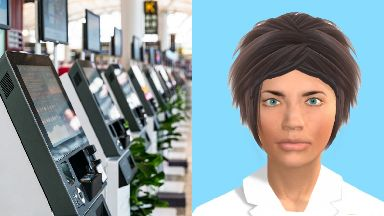 Digital face: Self-service checkouts.