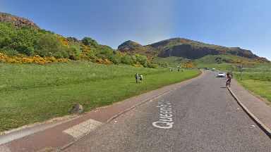 Holyrood Park: Drivers were warned to stay away from Queen's Drive.