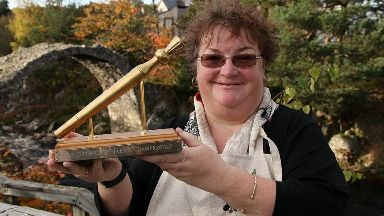 Champion: Lisa Williams claimed the golden spurtle.