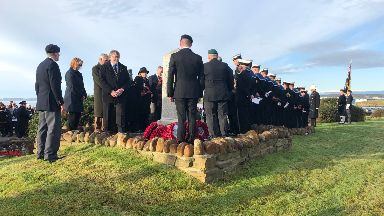 Remembrance service was held on Monday morning.