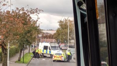 Kirkcaldy: The man fell from a balcony in Fair Isle Road.