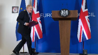 Brexit: Johnson struck new deal with Brussels this week.