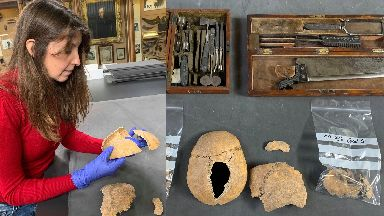 Investigation: Dr Rebecca Crozier analysed the remains.
