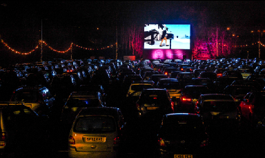 Drive-in: Festive films will be shown on a giant LED screen.