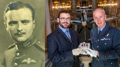 Hero: Paisley-born Archie McKellar has been honoured in a new display.