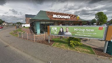 Hurt: Man injured outside McDonalds in Perth.