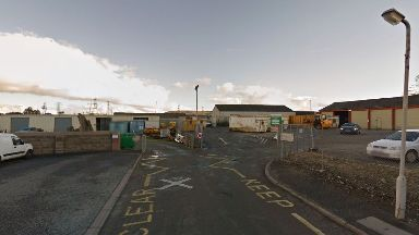 Balloch Road Recycling Centre: A bomb squad has been called to the facility.