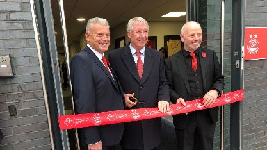 Celebration: Cormack Park was officially opened by Sir Alex Ferguson.