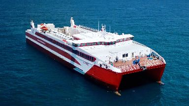 MV Alfred: The new £14m ferry is going into service.