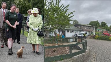 Royal: The Queen visited the farm in the summer.