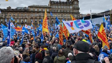 Glasgow: First Minister Nicola Sturgeon spoke to the George Square crowd.