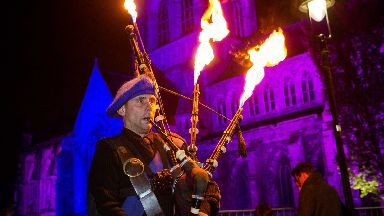 Piping hot: The event took place on Saturday night.