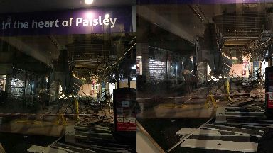 Paisley: Roof collapse.