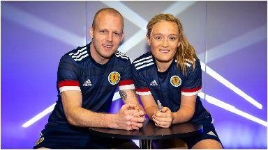 Update: Steven Naismith and Erin Cuthbert wearing the new kit.