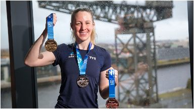 Design: Hannah Miley helped design the medals for Glasgow 2019.