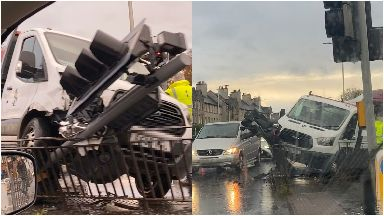 Crash: Gorgie Road.