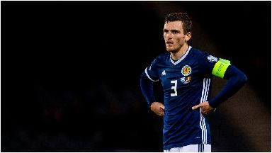 Out: Andy Robertson will miss Scotland duty.