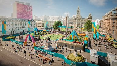 Glasgow: George Square will be transformed into a football village.