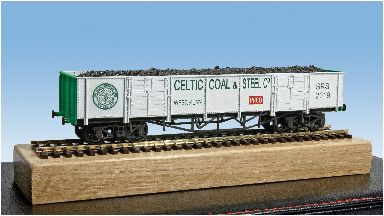A Celtic-themed wagon has pride of place in the model.