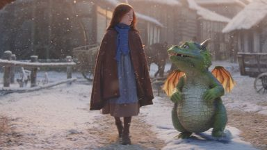 Star: The John Lewis Christmas ad features a Scottish schoolgirl.