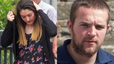 Jail: Tasmin Glass and Callum Davidson.