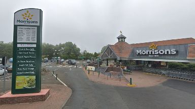 Edinburgh: The Morrisons store was robbed on Monday.