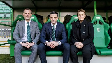 Team: Graeme Mathie, left, with Jack Ross and Leeann Dempster