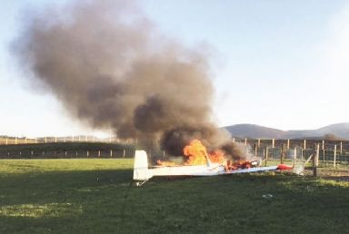 Fire: The aircraft burst into flames.
