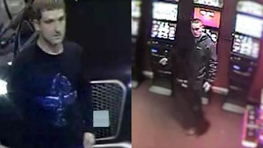 CCTV: The men are believed to be from Liverpool.