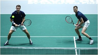 Form: Murray (right) and Skupski (left) have won two decisive doubles match in the Davis Cup.