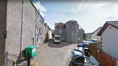 Crieff: The thieves targeted an empty flat.