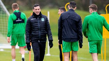 Jack Ross puts his players through their paces.